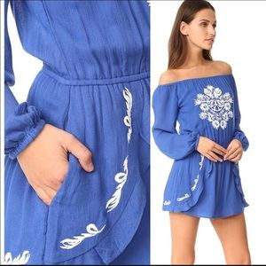 NWT Lovers + Friends Carmella Embroidered Romper